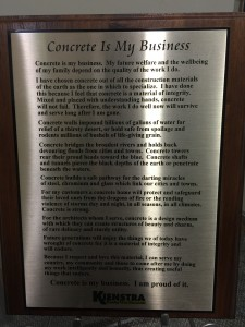 "Concrete Is My Business by Roger Corbetta, also known as ""Mr. Concrete"""